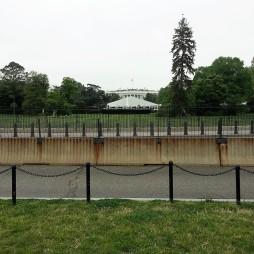 A Fehér Házból alig látszik valami