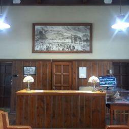 Az állomás épületében