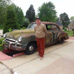 66-os relikvia a Wagon Wheel Motel közelében