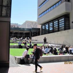 Déli szieszta a Columbia kampuszán