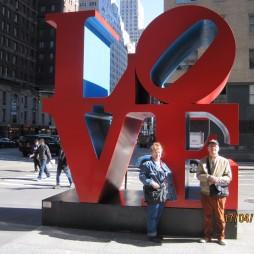 Love Sculpture, a City ikonikus pop art képe Robert Indiana műve. A kép a US Post egyik bélyegén is látható.