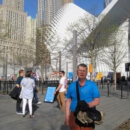 Lali az Oculus-nál, 9/11 Memorial. Az Oculus egy subway és a PATH állomásépülete.