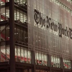 A Ride után... A Szerkesztőség a 8. sugárúton. A New York Times Bldg. a 7. legmagasabb épület a városban, 319 m.