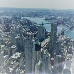 A Brooklyn és Manhattan hidak fentről