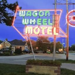 A Wagon Wheel, az 1934-ben épült és mára felújított vintage-motel.