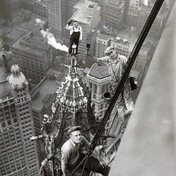 Vasmunkások. Woolworth Bldg. 1926 NYC