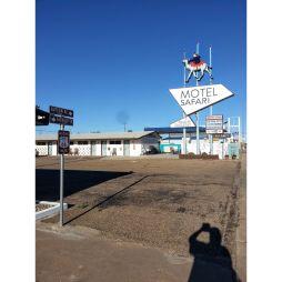 A Safari vintage-motel a szállásunk