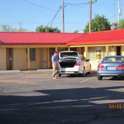 Lali pakol, a szállásunk a Route 66 Inn, Shamrock