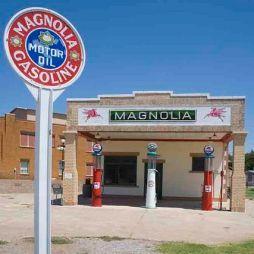 Egy másik régi benzinkút a Magnolia, Shamrock