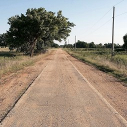 Az eredeti 66-os út egy szakasza Aftonnál, OK