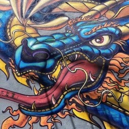 Mural painting, Chinatown, SF