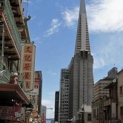 Transamerica Pyramid Bldg. (1972) Chinatown, SF