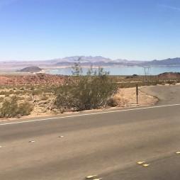A Hoover Dam-ot tápláló Lake Mead tó. Az aszály miatt vészesen csökken a vízszintje...