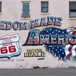 Öntudatépítő falfestmény, Kingman, AZ