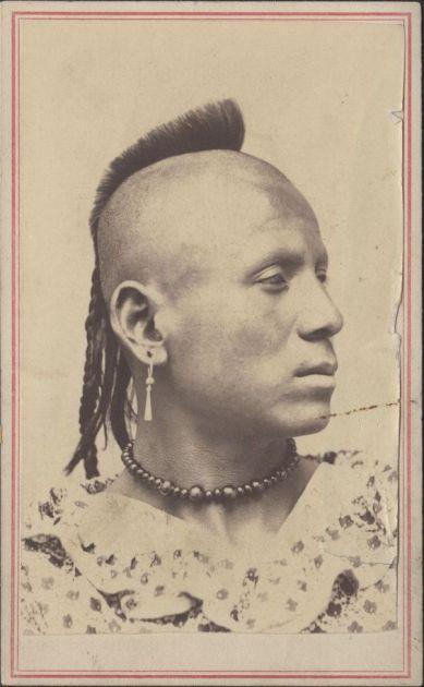 Sharitarish, a Grand Band of Pawnee vezetője, polgárháborús katona, 1860. (Kansas Historical Society, pinterest.com)