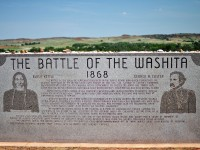 A Washitai Csata emlékműve Elk City-nél, OK