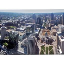 Kilátás a városra az Arch tetejéből