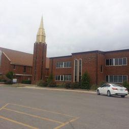 Baptista templom és iskola alap. 1906, Clinton, OK