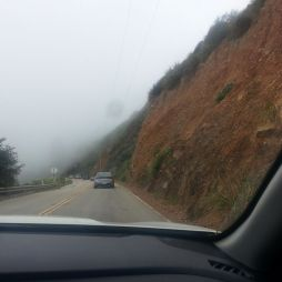 Big Sur itt még ködben