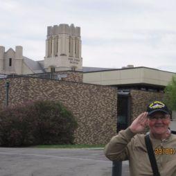 Lali a látogatóközpontnál, West Point