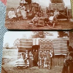 Fent: Az Oregoni Ösvény utasai. Lent: Határvidéki kereskedő pont Arizona ca. 1880's.