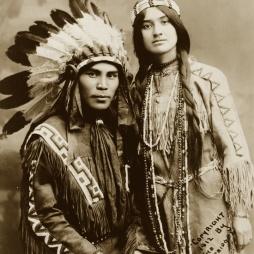 Ifjú natív házaspár, 1912.