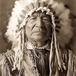 Sitting Bear Medicine Man, Kiowa harcos (1800-1871, Kansas).
