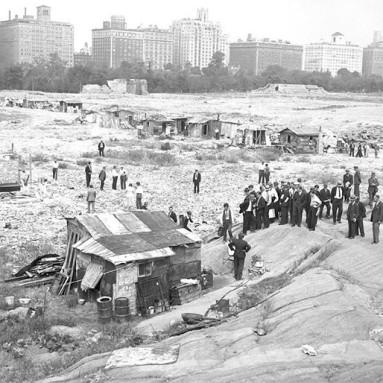 A Seneca Village maradványai a Central Park építésekor