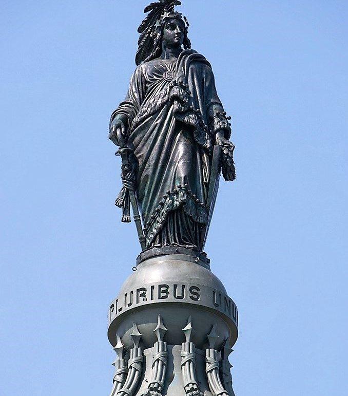 A Freedom-szobor a Capitolium tetején, Washington D.C.