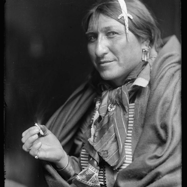 Joe Black Fox sziú indián, aki Buffalo Bill vadnyugati show-jában lépett fel.