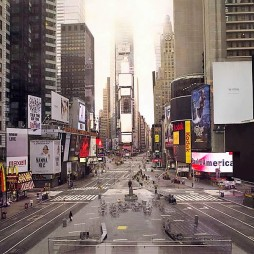 2010-ben, ritka felvétel, amikor üres a Time Square.
