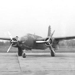 B-25 Mitchell bombázó.
