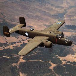 A North American Aviation által gyártott B-25 Mitchell típusú kétmotoros közepes bombázót mind a csendes-óceáni, mind pedig az európai hadszíntéren bevetették. Library of Congress