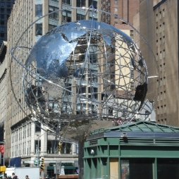 Columbus Circle, W 60th St./Central Park South (Steel Globe by Kim Brandell, 1996)
